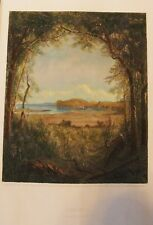 ROCKLAND ON THE HUDSON S R GIFFORD HAND COLORED ANTIQUE ENGRAVING R. HINSHELWOOD