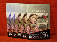 Lot of 2 Samsung Evo Select 256GB Micro SDXC UHS-1 Class 10 SD Flash Memory Card