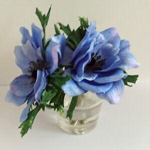 Artificial Dahlia Flowers in Vase