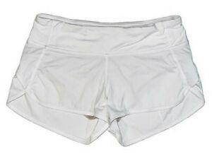 Lululemon White Size 4 Shorts