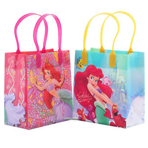 Little Mermaid Authentic Licensed Reusable Small Party Favor Goodie 12 Bags