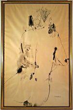 1958 Listed PUERTO RICAN CARLOS OSORIO Sd ORIGINAL INK & WASH RECLINING NUDE