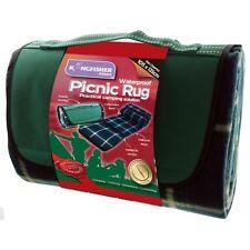 Kingfisher Waterproof Camping Picnic Beach Rug Blanket Mat - Wipe Clean Backing