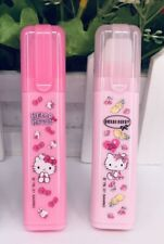 2x Cute Hello Kitty Erasers Pink New Design Sanrio Gift Bow Pen Shape Style Cat