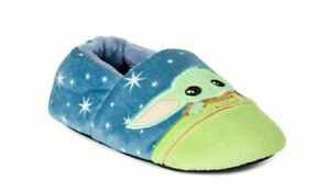 Star Wars The Mandalorian size 9-10 Baby Yoda Toddler Slippers NWT