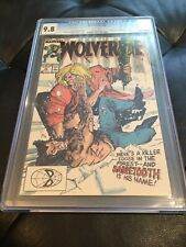 Wolverine #10 CGC 9.8 White Pages - Vs .Sabretooth Cover & Story L@@K!
