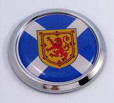 Scotland Stottish Round Flag Car Chrome Decal Emblem bumper Sticker bezel badge
