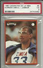 1987 GIGANTES DE LA NBA #5 KAREEM ABDUL JABBAR PSA 3