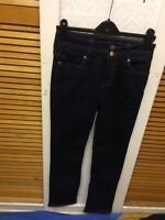 """F&F TESCO AUTHENTIC HIGH WAIST TWO BUTTONS FASTING LADIES CASUAL JEANS SIZE UK8"""""""