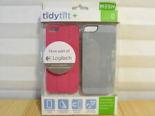 Logitech Mesh Tidytilt w/ Earbud Cord Wrap, Stand/Mount iPhone 5/5s Pink/Grey