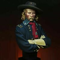 1/12 BUST Resin Figure Model Kit Confederate Cavalry Officer Custer US Civil War
