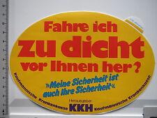Aufkleber Sticker KKH - Kaufmännische Krankenkasse (S1326)