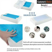 Cooling Gel Pillow Memory Foam Orthopedic Firm Head Neck Support Cervical Pillow