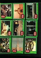 1977Star Wars Series 4 GREEN Card Set Excellent+ to Some Near Mint SPECIAL PRICE