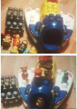 Children's lego bundle Mega Blocks Aircraft vintage Figures pre school toy role