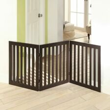 Freestanding Pets Gate, 2Pcs Support Feet, Foldable For Hallways Doorways Stairs