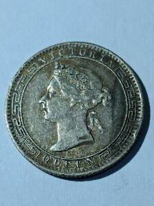 Ceylon 1900 Victoria silver 25 Cents about VF Sri Lanka
