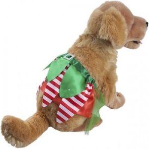 Dog Christmas Naughty Elf Character Fancy Dress Festive Skirt Pet Costume