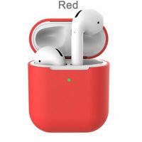 Custodia Cover Auricolari Silicone Tpu per Apple Airpods Generazione 1/2 Rosso