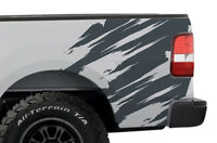 Custom Vinyl Graphics Rear Decal TORN Wrap Kit for Ford Truck F-150 2004-08 Gray
