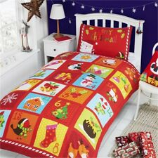 Rapport Advent Duvet Set, Multi-colour, Single - Cover Christmas Bedding Kids