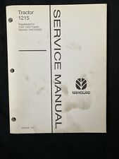 New Holland Tractor 1215 Service Manual Supplement *1017