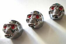 NEW 3 KNOBS METAL SKULL argents - bouton pour guitare