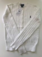 BNWT Polo Ralph Lauren Girls Cable Knitted Cardigan X Large (UK 12-13yrs)