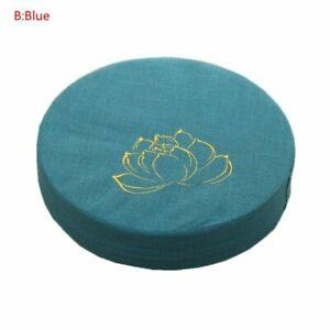 40x6cm Japanese Futon Worship Buddha Sitting Cushion Fabric Washable Round Linen