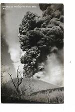 RPPC  VOLCANO  PARICUTIN , Michoacan , Mexico ,   US  CENSORSSHIP  1944
