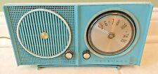 Motorola Tube Radio A23B Sky Blue 1962 Tested mostly Working Mid Century Modern