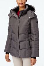 Calvin Klein Jacket Coat Puffer Parka Fleece Lined Zip Hood Grey XXL NWT $240
