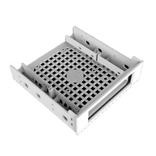 """BitFenix 5.25"""" to 3.5"""" External Drive Bay Adapter with SoftTouch - White"""