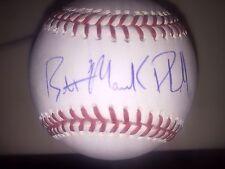 Brett Phillips Autograph Signed Baseball With Maverick Inscription Brewers