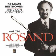 Aaron Rosand - Violin Concertos By Brahms & Beethoven [New CD]