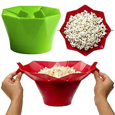 Popcorn Silicone Bowl Microwave Maker & Folding Kitchen Homemade Popcorn Bucket