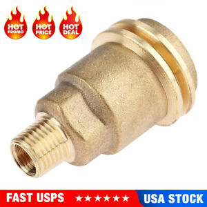"""QCC1 Connection 1/4"""" Male Pipe Thread Propane Gas Fitting Adapter Quick Connect"""