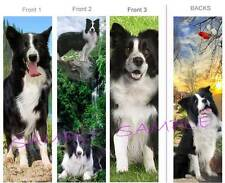 3 Set-Border Collie Bookmark Black White Dog Book Mark Card Figurine Art-Not Toy