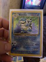 POKEMON Blastoise Base Set Unlimited Rare Holographic Holo Card 2/102 1999