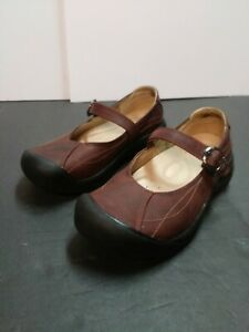 Keen Women's Mary Jane's Size 7 Brown Leather Single Strap