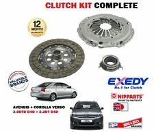 FOR TOYOTA AVENSIS COROLLA VERSO 2.0DT 2.2 D4D 6 SPEED 2006-2012 NEW CLUTCH KIT