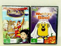 Wow Wow Wubbzy Wubbzy Goes Boo Mulan Story Time Collection DVD Video New Sealed