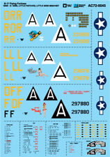 """MICROSCALE DECALS 1/72 B-17 Flying Fortress - """" Nine-O-Nine """","""" PICCOLO TOPPE"""