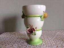 """Vintage Italian Vase with Stem Holder, 7.25"""" Tall"""