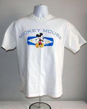 MENS DISNEY MICKEY MOUSE T SHIRT LARGE WALT DISNEY WORLD WHITE COTTON