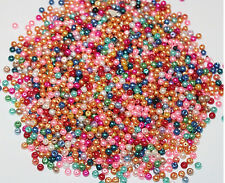 500PCS Wholesale Beads Bulk Beads Glass Mix Color Pearls Beads 4mm