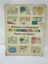 1952 Pittsburgh Paint Brushes-Sundries Catalog