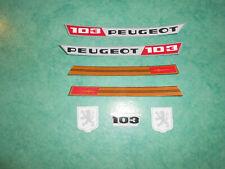 Lot autocollants Peugeot 103 MVL 1971 n°2
