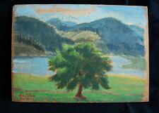 IVAN DA SILVA BRUHNS (1880 - 1980) Impressionist Landscape Oil Painting on Wood