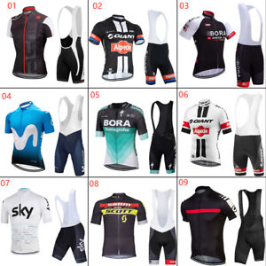 JY1143 NEU Herren Rennrad Fahrrad Trikot Lätzchen Shorts Sets Hemd Klammer Knic